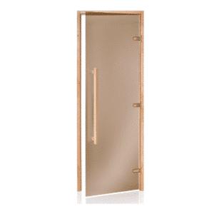 "Alder Frame Door with Long HandleBronze Glass690x2090mm(27 1/8"" x 82 1/4"")Right Hand Opening"