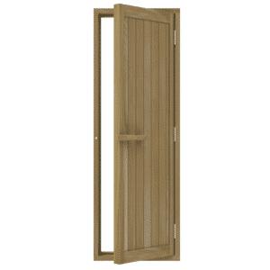 """Bsaunas Solid Cedar Door 700x2040mm(27 1/2"""" x 80 1/2″)Right Hand734-4SD"""