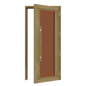 "Bsaunas Cedar Door with ADA Full Bronze Glass1005x2075mm(39 1/2"" X 81 1/2″)Right Hand739-3SGD-R"
