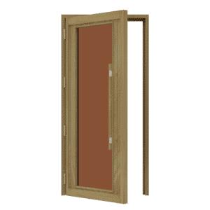 """Bsaunas Cedar Door with ADA Full Bronze Glass1005x2075mm(39 1/2"""" x 81 1/2″)Left Hand739-3SGD-L"""